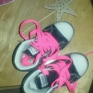 Kids denim sneakers
